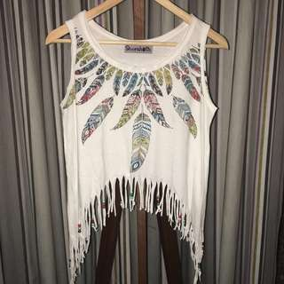 Colorful Feather Tanktop