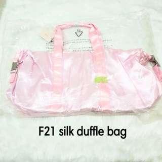F21 silk duffle bag