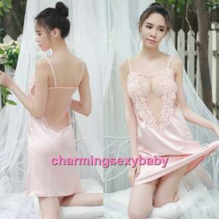 Pajamas Nightwear See-Through Babydoll Dress Sleepwear Sexy Lingerie Baju Tidur BH1088