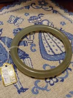 購自台灣 100% New 全新 緬甸 玉手鐲 玉扼 59.2mm Jade Bracelet 水晶 手串 手鏈