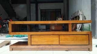 Bufet minimalis meja tv kayu jati