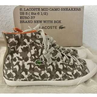 Lacoste mid high camo womens sneakers