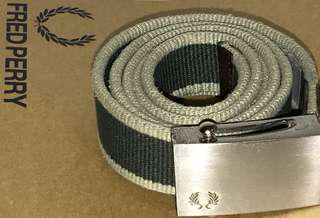 Authentic FRED PERRY Belt (Steel Buckle Green)