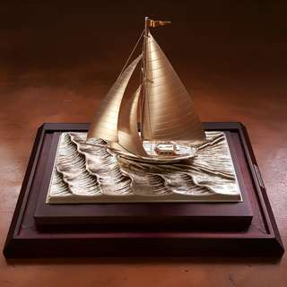 985 Sterling Silver Yatch by Takehiko