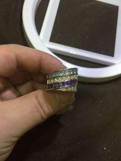 13圈口 follifollie 925 银戒指