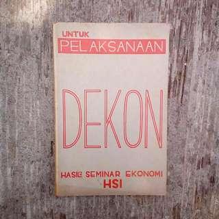 Buku Kuno Untuk Pelaksanaan Dekon