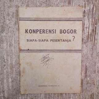 Buku Kuno Konperensi Bogor: Siapa2 Pesertanja