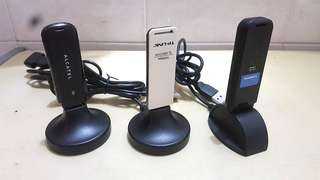 3 Unit Wi-Fi 5G Dual Band, 3G Data SIM Card & Wireless-N Adapter USB For Laptop & PC ($200 Take All !!)