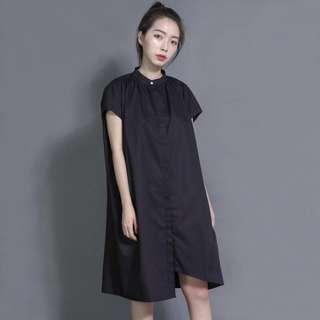 Sumi 化學家不對稱洋裝 黑洋裝
