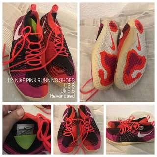 Nike running shoes women 8 pink