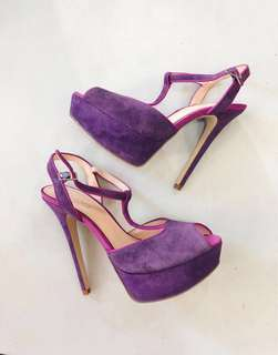 ALDO Purple Heels with Pink Trim
