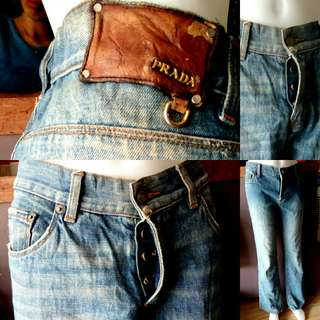 Authentic Prada Buttonfly Denim made in Italy size 33