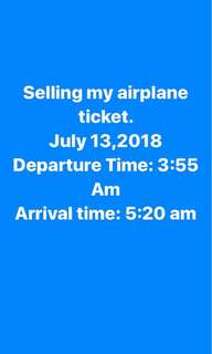 Plane Ticket For sale