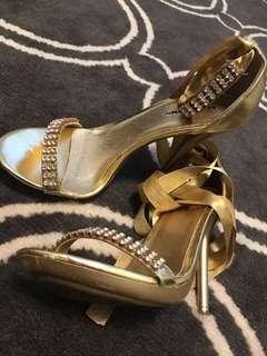 Formal gold heels