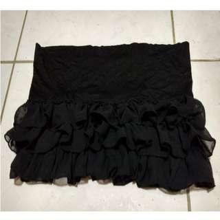 🚚 彈性棉質蕾絲蛋糕裙