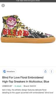 Gucci blind for love shoes