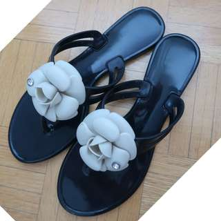Chanel Inspired Camellia Sandals