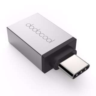 dodocool USB-C to USB-A Adapter Convert USB 3.1 Type-C to USB-A Connector for MacBook / ChromeBook Pixel / Nexus 6P /OnePlus Two/ Nokia N1 /Samsung Galaxy/XIAOMI Note3/ SONY /MOTO Z/LG V30/Vivo NEX/Huawei/Lenovo/ASUS Type C Supported Device Silver