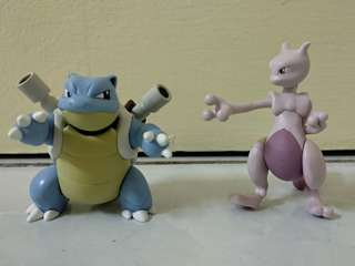 Pokemon Blastoise and Mewtwo