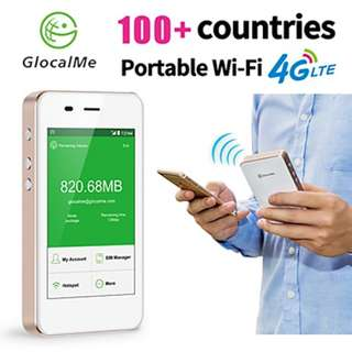 【1Year Warranty】GlocalMe Portable Wifi Hospot Wireless Router Pocket Mifi 4G LTE Network Free Roamig