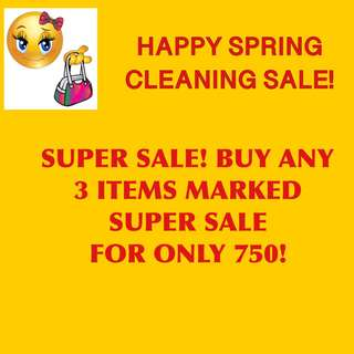 SUPERSALE!!! BUY ANY 3 ITEMS FOR 750!