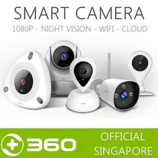 360 Official Singapore Home Security Camera IP Camera 720P/1080P Night Vision Two-Way Communication