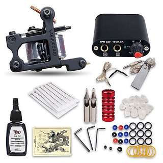 🆕Tattoo Kit - 1 Coil Tattoo Machine