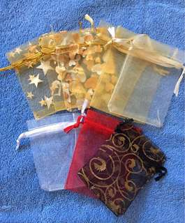 10 pcs Assorted Organza Pouches