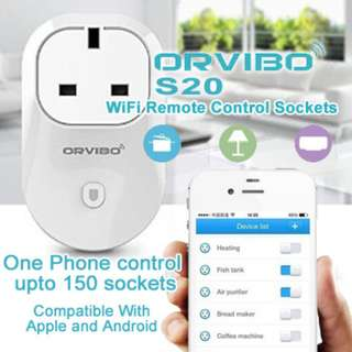 Orvibo WiFi RemoteControl Socket(SG Plug)/MagicCube Smart IR Remote Control from mobile SG warranty