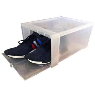 Hitop Drop Front Plastic Shoe Boxes stockable/ Multi-purpose storage box (Clear)