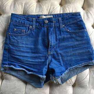 Topshop blue jean shorts
