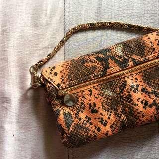 101 New York Snakeskin Clutch Bag
