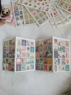 Vintage stamp Paper Stickers