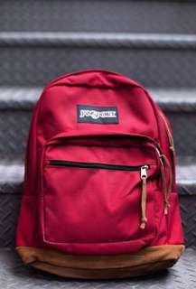 Authentic Jansport Bag with Leather Bottom