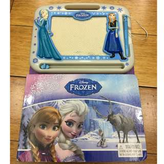 disney frozen magnetic drawing board with book
