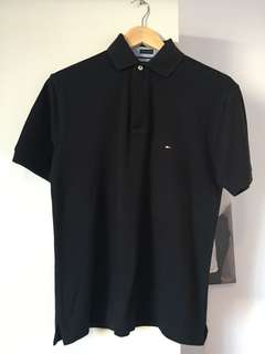 Tommy Hilfiger, Black Polo Top, Size XS