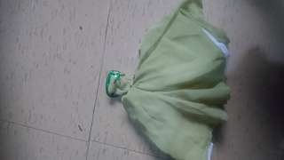 Beaded green backless Doll dress