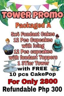 Tower fondant cakes