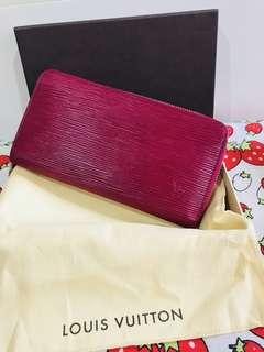Authentic LV zippy Wallet EPI Fuchsia