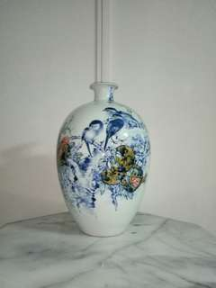 Porcelain Vase With Artist Certificate Height 39cm Perfect Condition