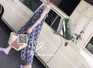 ioz 小清新寬鬆v領細帶連身裙