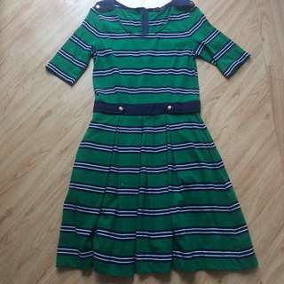 Blued Striped Dress(Repriced)