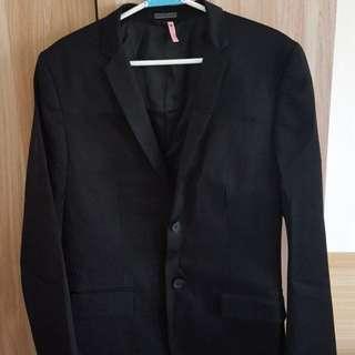 calvin klein 黑色合身西裝外套  原價1萬6