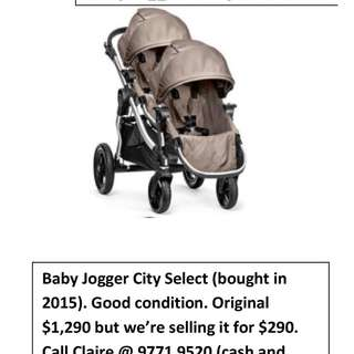 Stroller - City Select - Baby Jogger (twin - tandem)