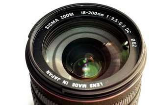 Sigma lens 18-200mm
