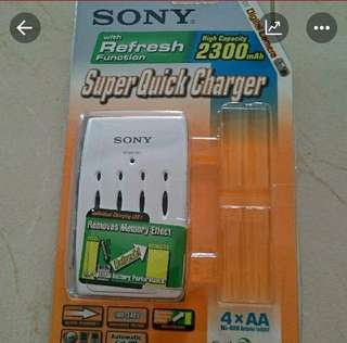 Sony AA Super Quick Charger High Capacity 2300mAh with Refresh Function