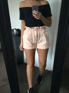 Faded peach shorts