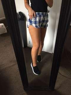 Checkered short shorts