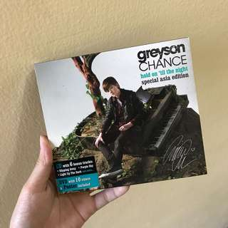 Original HMV SG - Greyson Chance Hold on til the night