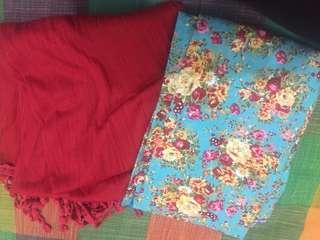 Pashimna/syal dan hijab motif segiempat